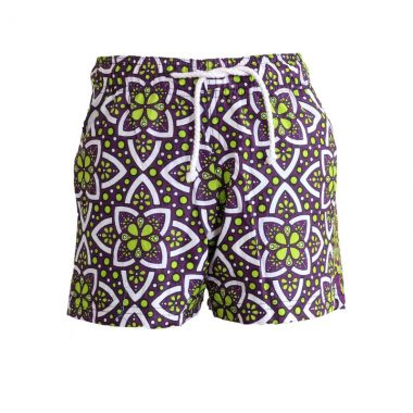 Boys Beach and Bush Shorts - Green and Brown 1