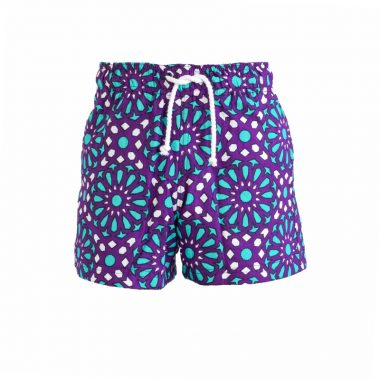 Boys Beach and Bush Shorts - Purple 1