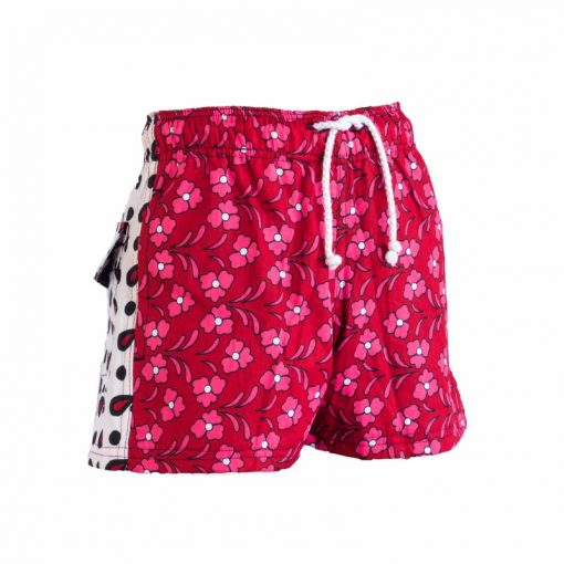 Boys Beach and Bush Shorts - Red Flowers 2