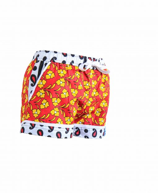 Rock and Stones Girls Beach and Bush Shorts Red & Orange flowers 1