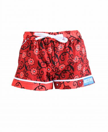 Rock and Stones Girls Beach and Bush Shorts red Flowers 2