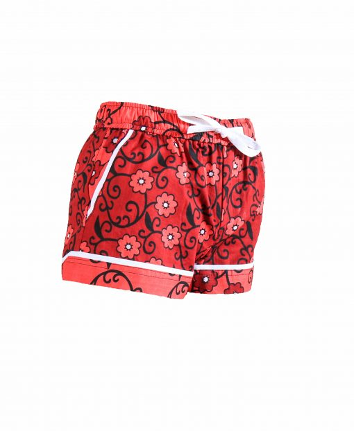 Rock and Stones Girls Beach and Bush Shorts red Flowers 3