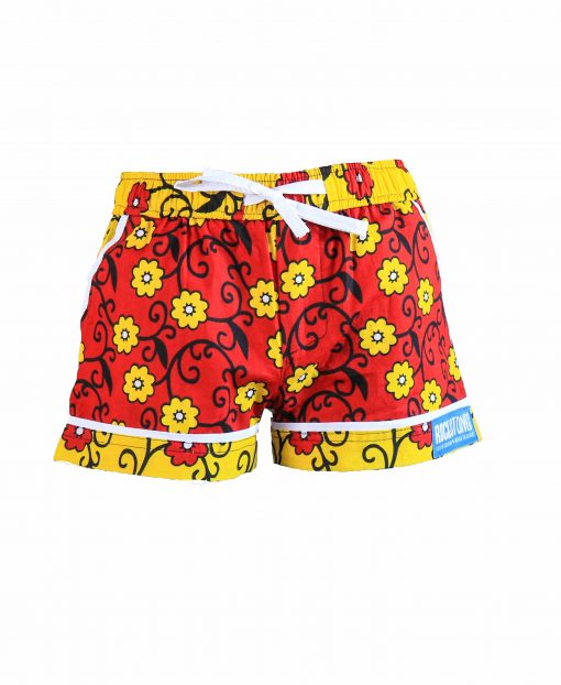 Rock and Stones Girls/Ladies Beach and Bush Shorts yellow flowers 2