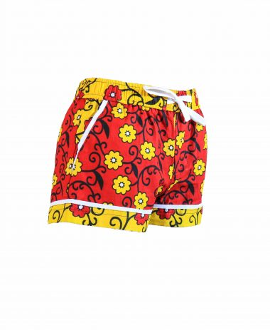 Rock and Stones Girls/Ladies Beach and Bush Shorts yellow flowers 3