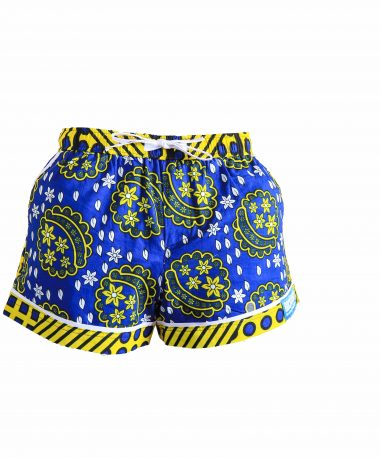 Rock and Stones Ladies Beach and Bush Shorts Blue and Yellow 2 (61 of 126)
