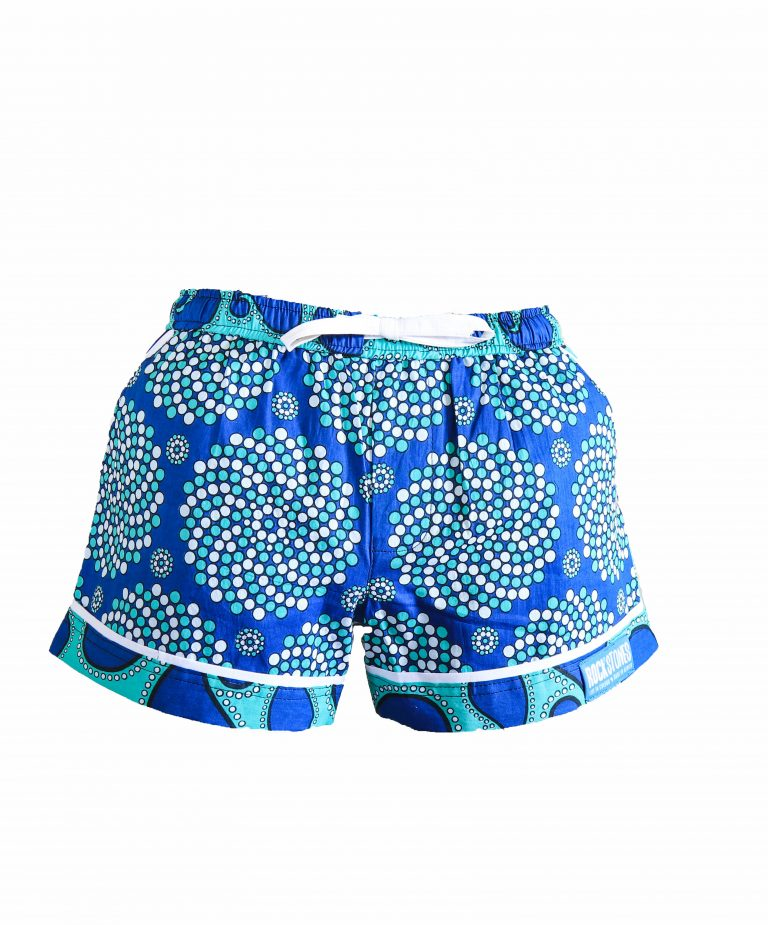 Rock and Stones Ladies Beach and Bush Shorts Light Blue and Dark Blue 2 (55 of 126)