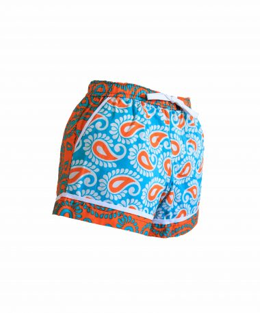 Rock and Stones Ladies Beach and Bush Shorts Light Blue and Orange 1 (47 of 126)