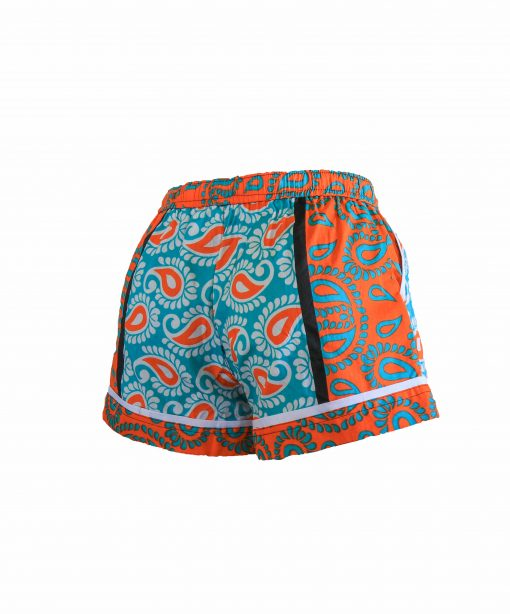 Rock and Stones Ladies Beach and Bush Shorts Light Blue and Orange 2(48 of 126)