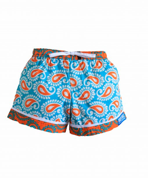 Rock and Stones Ladies Beach and Bush Shorts Light Blue and Orange 3(46 of 126)