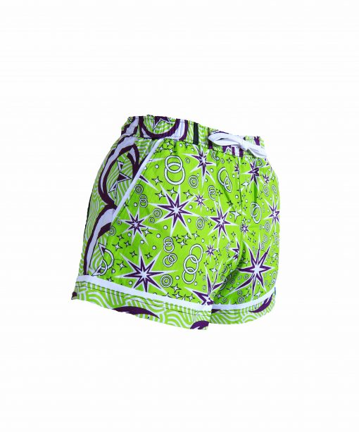 Rock and Stones Ladies Beach and Bush Shorts lime green and purple 2 (35 of 126)