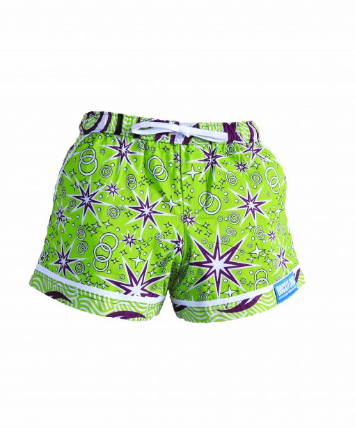 Rock and Stones Ladies Beach and Bush Shorts lime green and purple 3 (34 of 126)