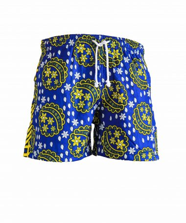 Rock and Stones Mens Beach and Bush Shorts blue & yellow 3