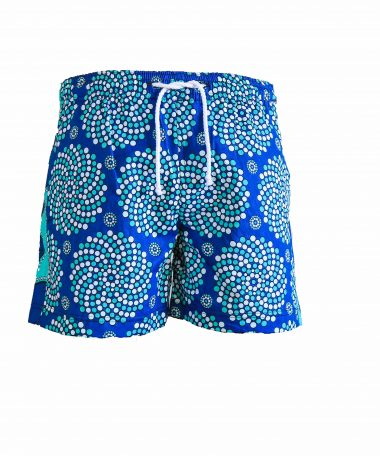Rock and Stones Mens Beach and Bush Shorts bright blue & dark blue 1