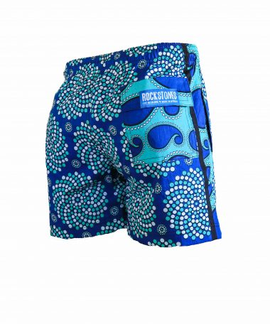 Rock and Stones Mens Beach and Bush Shorts bright blue & dark blue 3