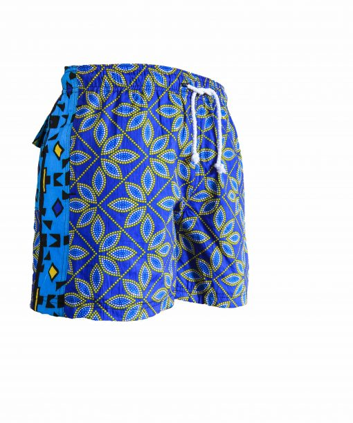 Rock and Stones Mens Beach and Bush Shorts dark blue & brown 2