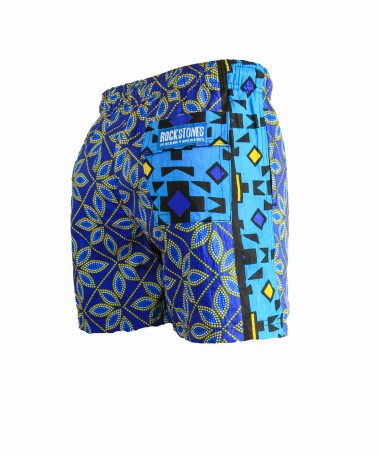 Rock and Stones Boys Beach and Bush Shorts dark blue & brown 3