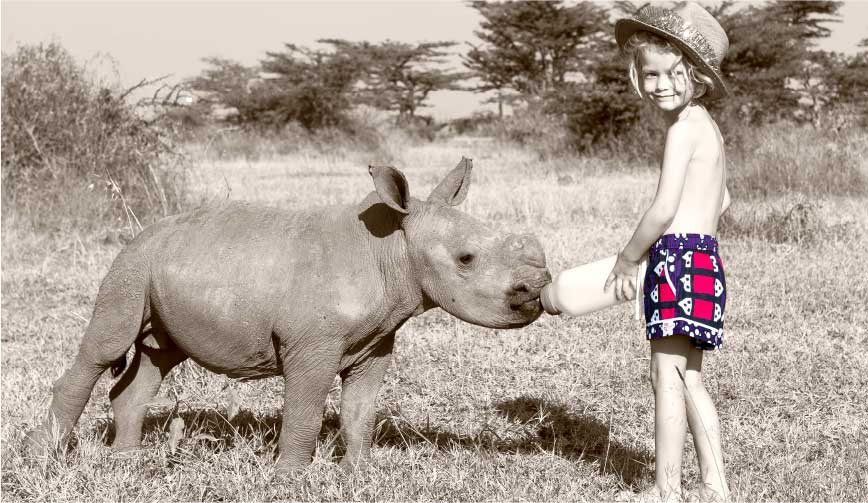 Rock and Stones Kids Shorts and Baby Rhino